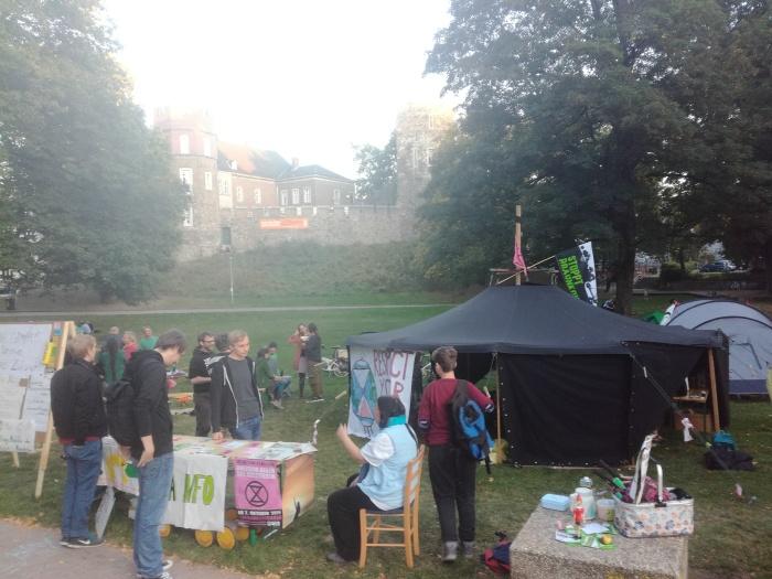 Klimacamp im Frankenberger Park